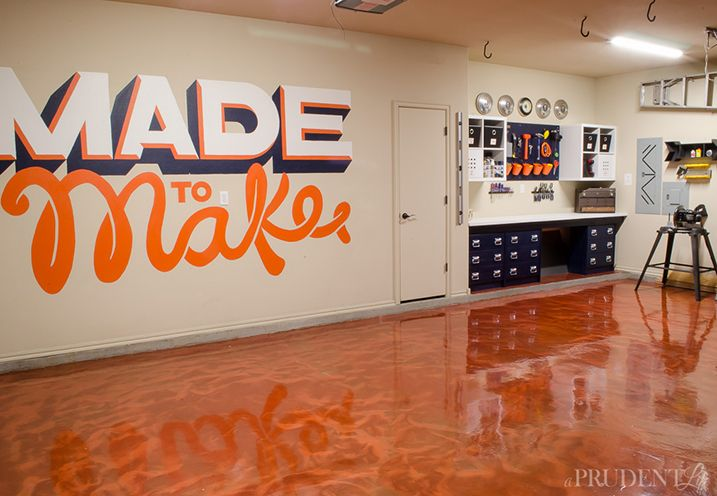 Garage makeover get gorgeous one of a kind floors in just