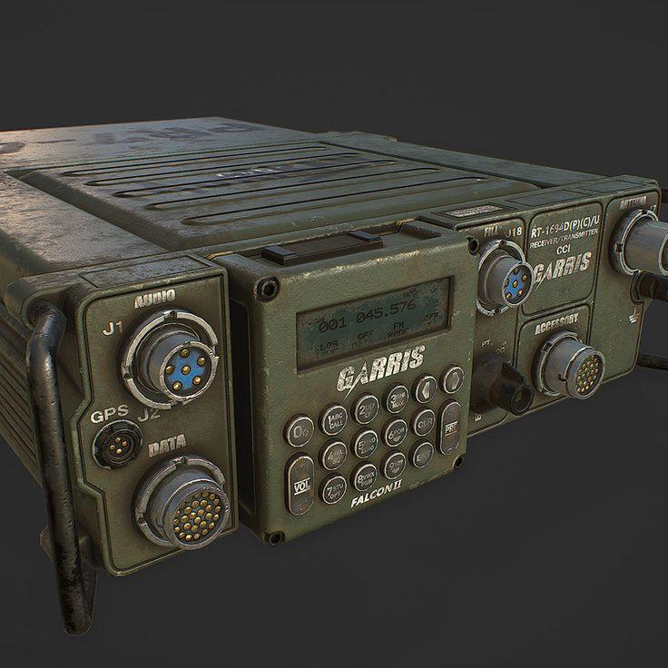 Multiband Military Radio (PRC-150), by Akshat Singh (Shrike.) - https://www.artstation.com/artwork/kLrwx #SubstancePainter #ThisIsSubstance