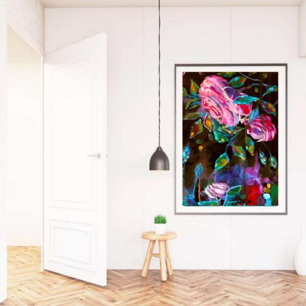 Roses for your walls, floral art print