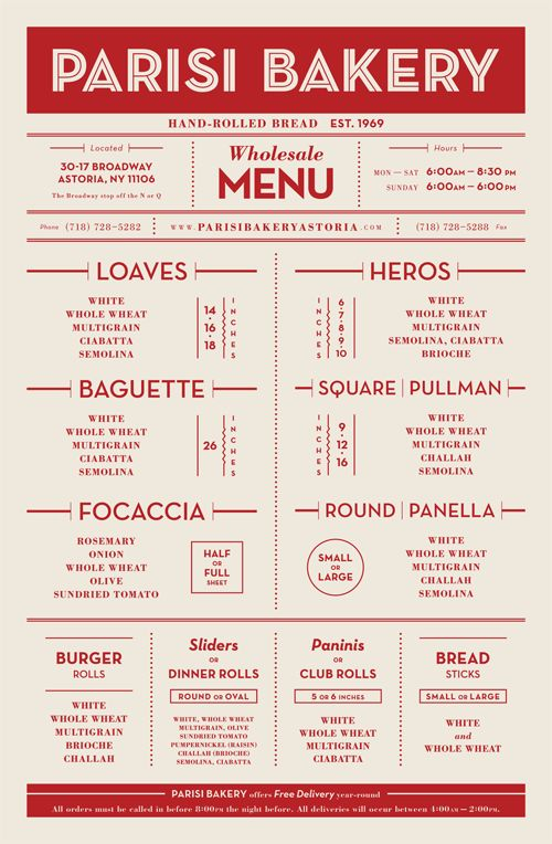 25+ best ideas about Bakery menu on Pinterest Square ...