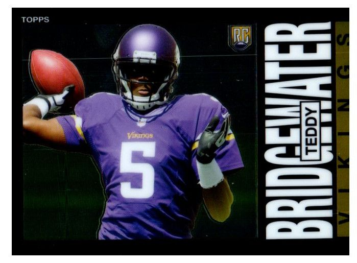 2014 Topps Chrome Teddy Bridgewater Rookie Card 1985 Design Minnesota Vikings