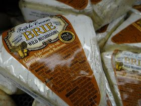 Triple Cream Brie with Mushrooms reviewed as part of Trader Joe's 365