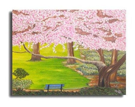 Spring painting in oil 18x24i.Landscape by OilpaintingsChrista, $180.00