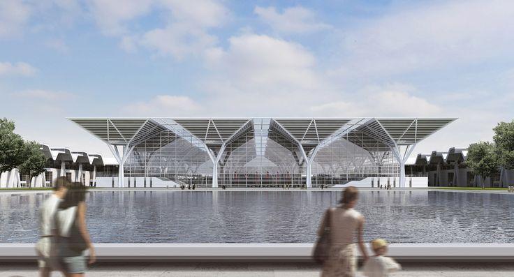 Proposta vencedora do Centro Nacional de Convenções e Exposições / gmp Architekten