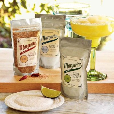 LOVE the chili and the lime...so great with the mango passion fruit mix from Williams-Sonoma Margarita Salt on Williams-Sonoma.com