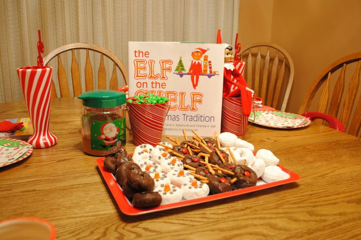 north pole breakfast...to introduce elf on the shelf