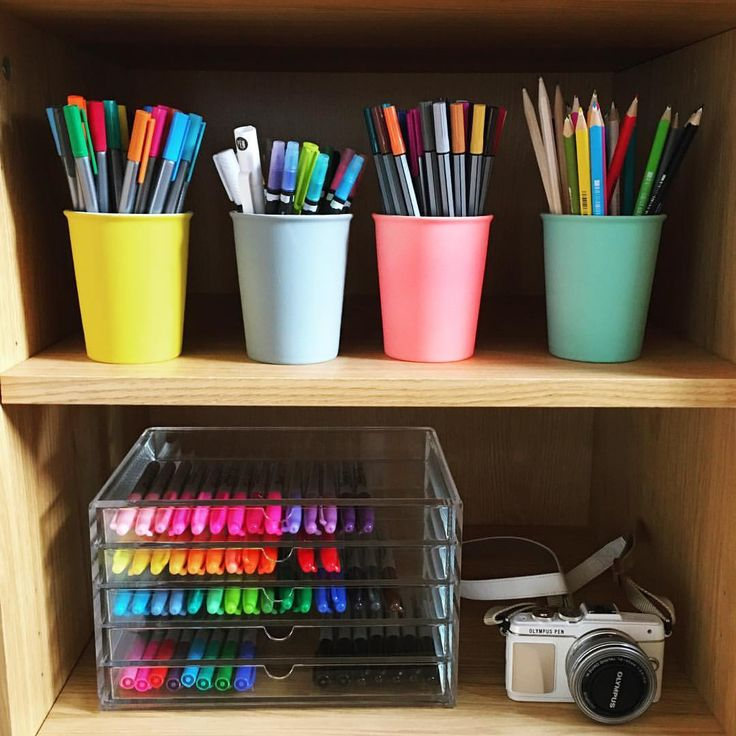 This idea will help you know where all the pens and pencils are! So when you study you can go there!