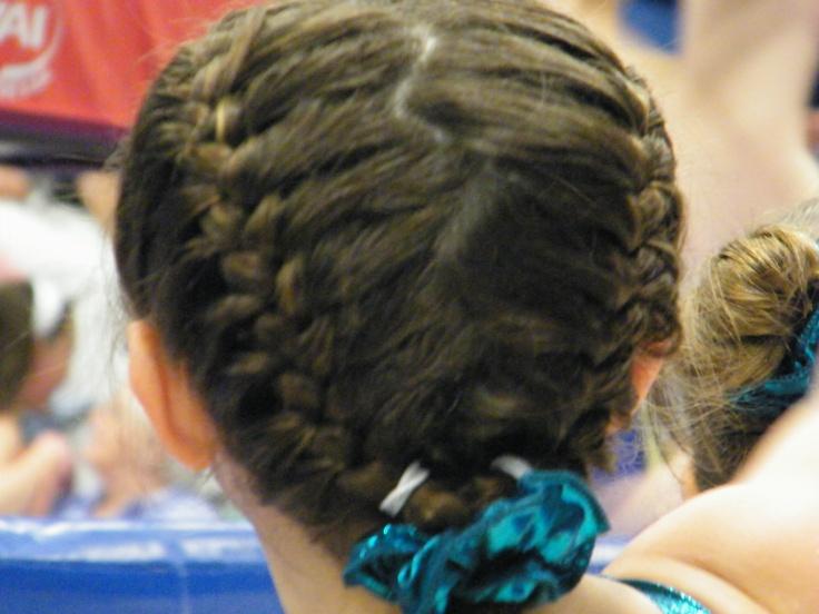 A Gymnast's hair