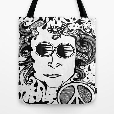 Lennon  Tote Bag by Katrina Berkenbosch  - $22.00