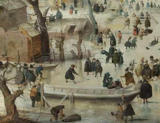 Winterlandschap met schaatsers, Hendrick Avercamp, ca. 1608 - Topstukken - Kunstwerken - Ontdek de collectie - Rijksmuseum
