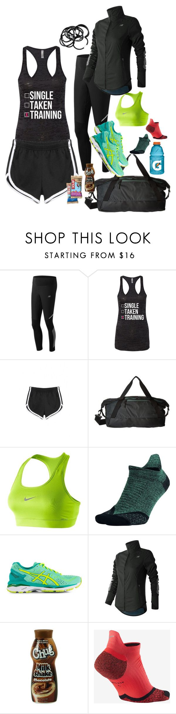 """Cross country meet"" by lonelyfruitsnak ❤ liked on Polyvore featuring New Balance, The North Face, NIKE, Asics, H&M and country"