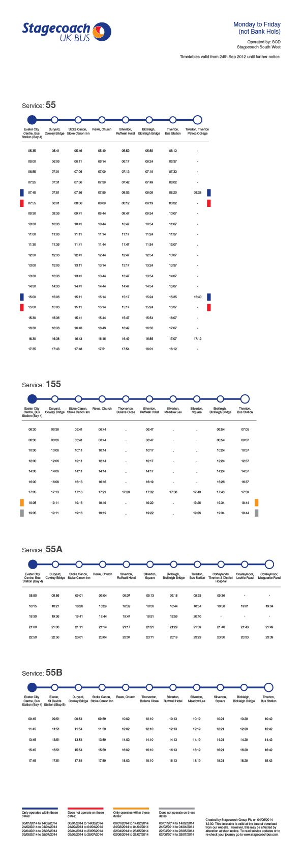 Stagecoach Bus Timetable Re-Design on Behance