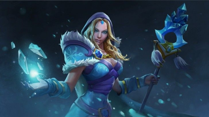 dota 2 crystal maiden daily android wallpapers pinterest