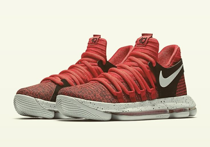 Nike KD 10 University Red para niños.