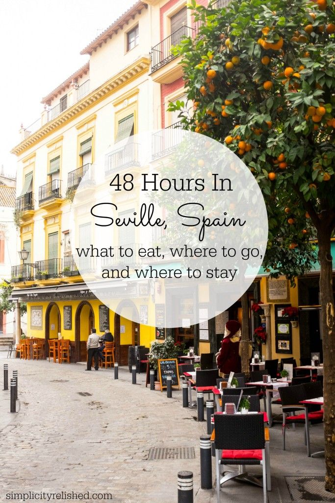 Going to Andalusia? Don't miss it's beautiful capital, Seville (Sevilla). Stunning cobblestone streets, beautiful Islamic architecture, friendly locals and amazing food. Check out this 2-day itinerary for what to eat and where to stay! | 48 Hours In Seville, Spain