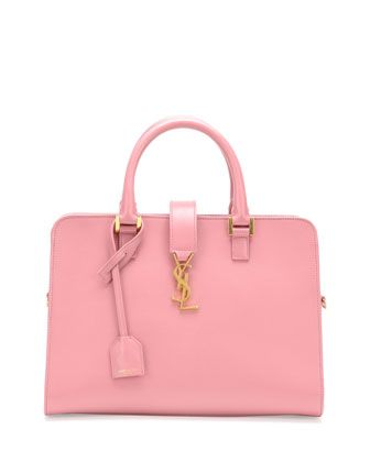Monogramme Small Zip-Around Satchel Bag, Pink by Saint Laurent at Neiman Marcus.
