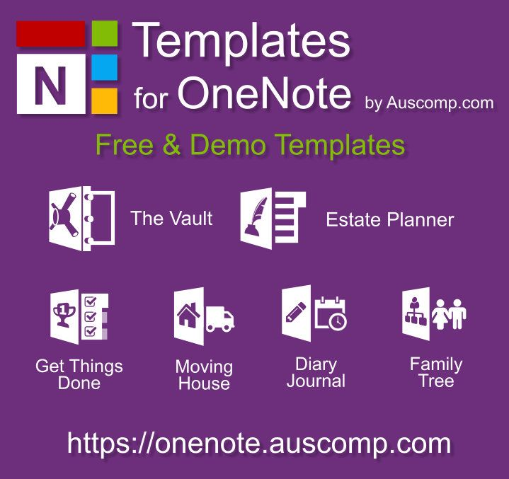 Free Templates For Ms Onenote For Estate Planning Creating Family Trees Moving House And Getting Things Onenote Template One Note Microsoft Computer Literacy