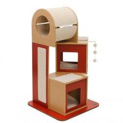 Rascador Para Gatos Vesper V-Tower Rojo