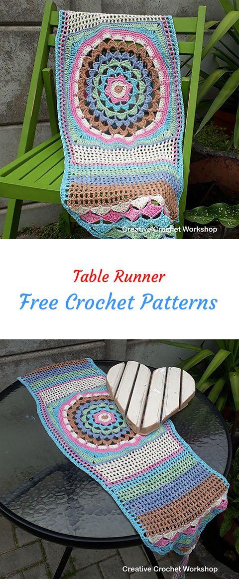 Table Runner Free Crochet Pattern #crochet #crafts #exterior #decor ...