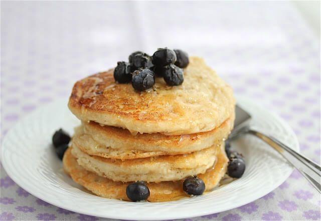 Homemade Gluten/Dairy/Egg-Free (Vegan) Fluffy Pancake Recipe ~ http://jeanetteshealthyliving.com