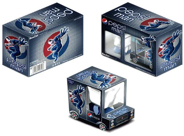 Blog Paper Toy papertoy Pepsi Man pic BoxZet Pepsi Man