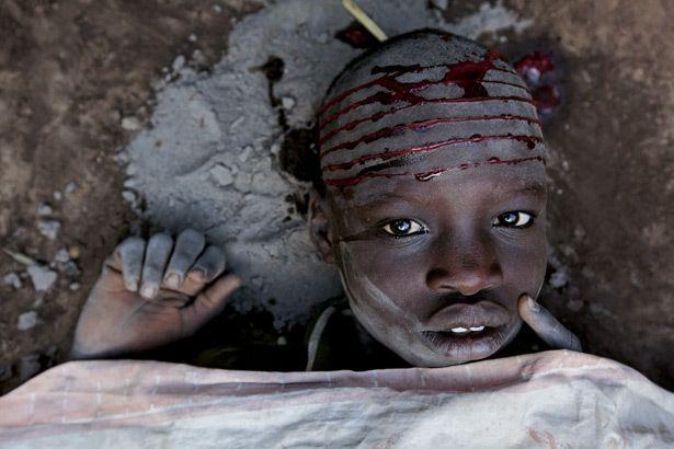 Sudan, Dinka , scarification