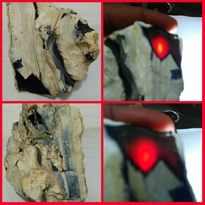 Deep red - calcedony raflesia bengkulu with potential cat eyes phenomenon