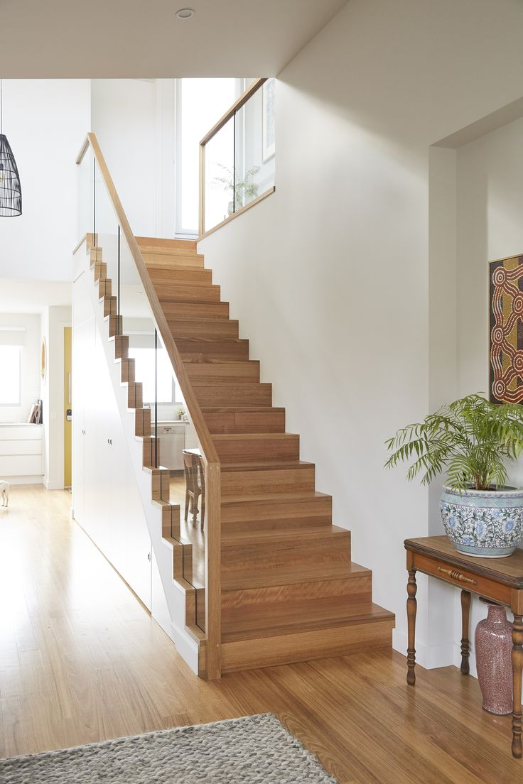 Stairs Staircase Tasmanian Oak Stained Floorboard