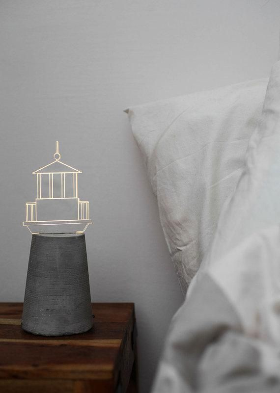 Let this LED lighthouse lamp guide you to dreamland. #etsy