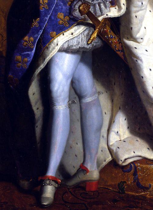 c0ssette:  Louis XIV (detail),1701,Hyacinthe Rigaud.