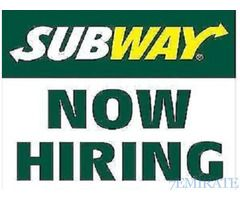 Cashier and Sandwich Artist Required for Subway Restaurant Boston Foods