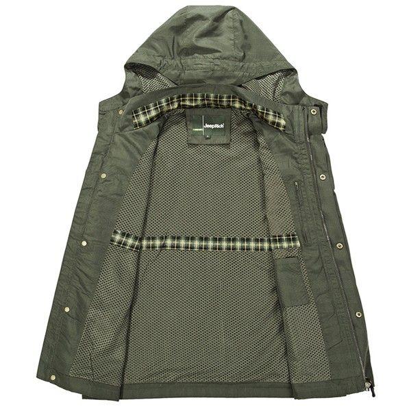Jeep homens ricos exterior Caminhada destacável casaco esporte impermeável jaqueta com capuz casuais