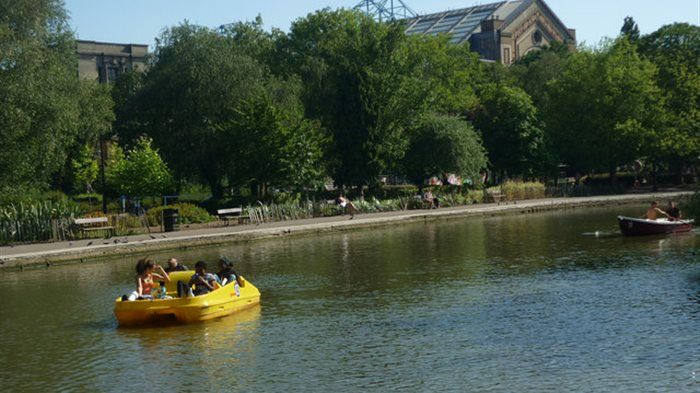 The success of Team GB's Olympic rowers in 2012 led to the restoration of Victoria Park's boating lake - and the East London park now joins the more established boating lakes of Hyde Park, Regent's Park and Battersea Park as one of London's best venues for hiring a rowing boat or pedalo.