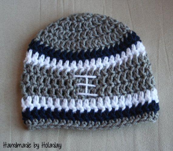 Dallas Cowboys Crochet Football Beanie {Handmade by Holaday}