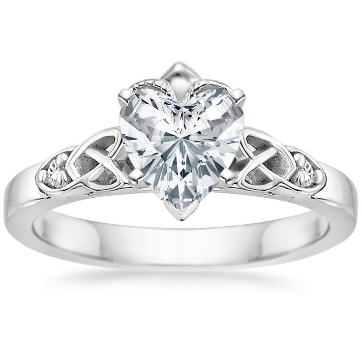 18K White Gold Celtic Claddagh Ring from Brilliant Earth