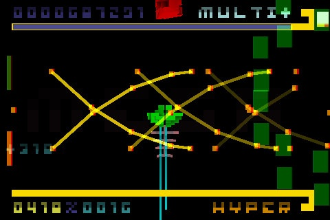 From the game BIT.TRIP BEAT (Wii) Love the retro graphics and vintage feel. Pixel art is simple yet effective.