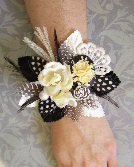 Cameo Wrist Corsage Wedding Vintage Inspired By Ekaminsk On Etsy 2500