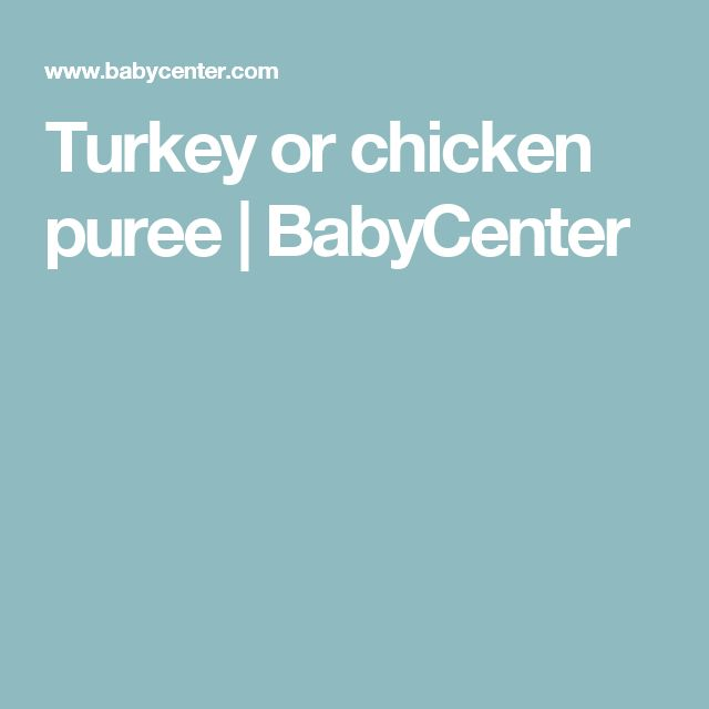 Turkey Or Chicken Puree Squash PureeHomemade Baby FoodsBaby Food RecipesFood