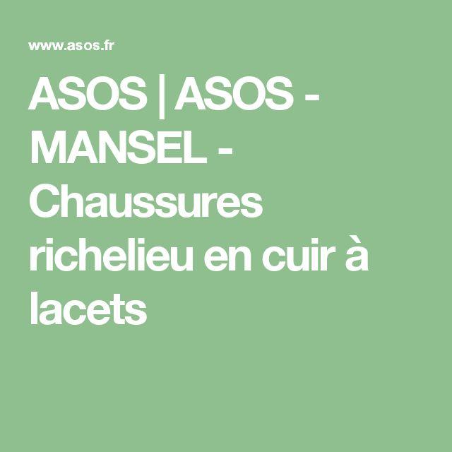 ASOS | ASOS - MANSEL - Chaussures richelieu en cuir à lacets