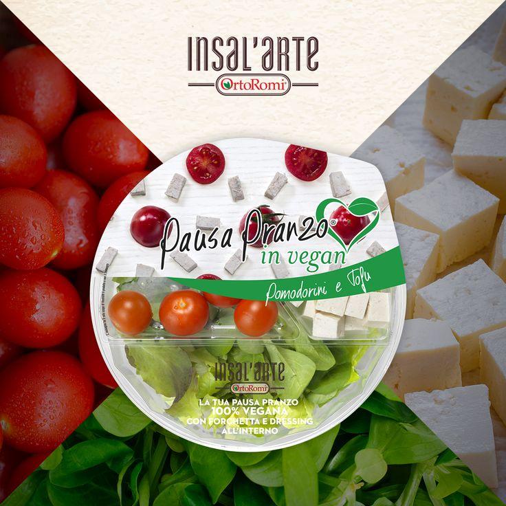 Pausa Pranzo In Vegan: ricetta con Tofu e Pomodorini #tofu #pomodorini #veg #vegan #insalarte #ortoromi