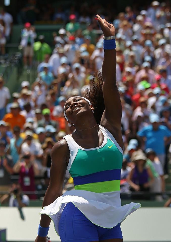 #Brava Serena Conquers MIAMI for 6th Record-Breaking & Hisory-Making Win!.......Serena Beats Maria Sharapova 4-6, 6-3, 6-0 to become the Most successful woman player in history of the Sony Open held in Miami, FL! Serena no longer shares the record of most wins with Steffi Graf, it's Steffi's husband Andre Agassi that matches Serena's 6X victories. Except in WTA, Serena stands alone as the Greatest female player Of All-Time in Miami. #GREATNESS