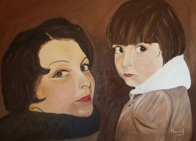 MANDÍF ART.: Retratos de infancia. Oleo sobre lienzo