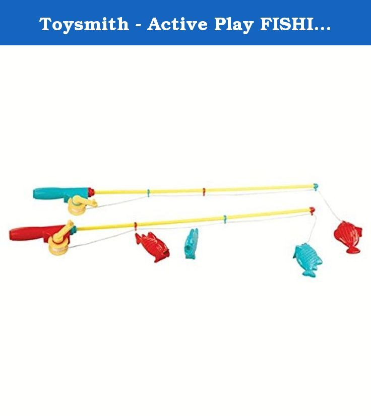 """Toysmith - Active Play FISHING SET Outdoor Toy. The six piece set includes a 32"""" carry case, four fish and two 31 1/2"""" magnetic fishing rods with working reels."""