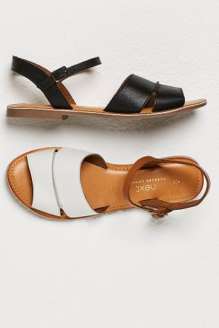 7181c601a295 Buy White Leather Two Part Sandals from Next Israel