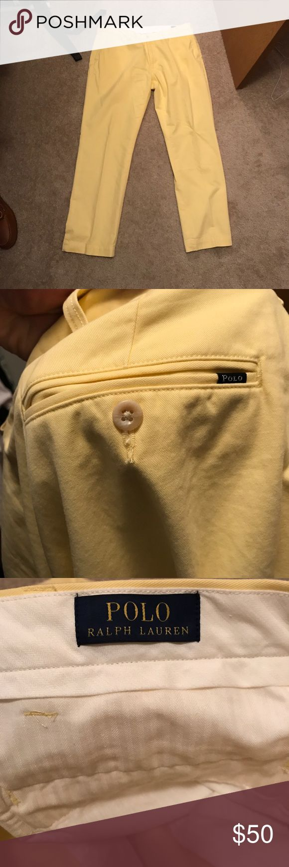 NEW Ralph Lauren classic yellow pastel pants 40/32 Brand new without tags polo Ralph Lauren yellow pastel pants! Perfect for summer. Size 40/32. Never been worn. Just took tags off. Polo by Ralph Lauren Pants Chinos & Khakis