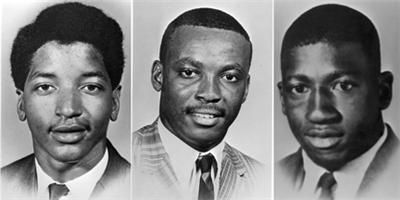 Victims of the Orangeburg Massacre: Smith, Hammond & Middleton - February 8, 1968,  nine South Carolina Highway Patrol officers in Orangeburg, South Carolina, fired into a crowd of protesters demonstrating against segregation at a bowling alley near the campus of South Carolina State College, a historically black college. 3 men were killed & 28 persons were injured; most victims were shot in the back. One of the injured was a pregnant woman who miscarried a week later due to the police…