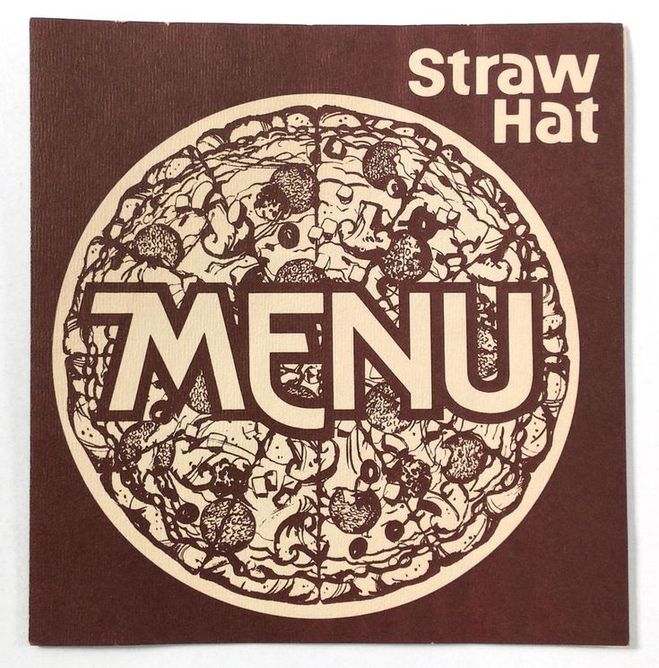 1970's Original Vintage Menu STRAW HAT PIZZA Restaurants California