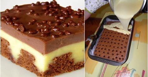 Najlepší dierkovaný pudinkovo šľahačkový koláč, ktorý keď som zjedol, pýtal som si ďalší. Je fantastický - Báječná vareška