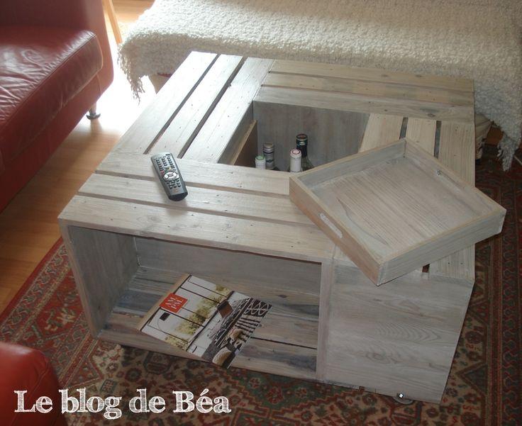 Bar En Bois De Palette : DIY table basse bar en bois de palette – Le blog de B?a