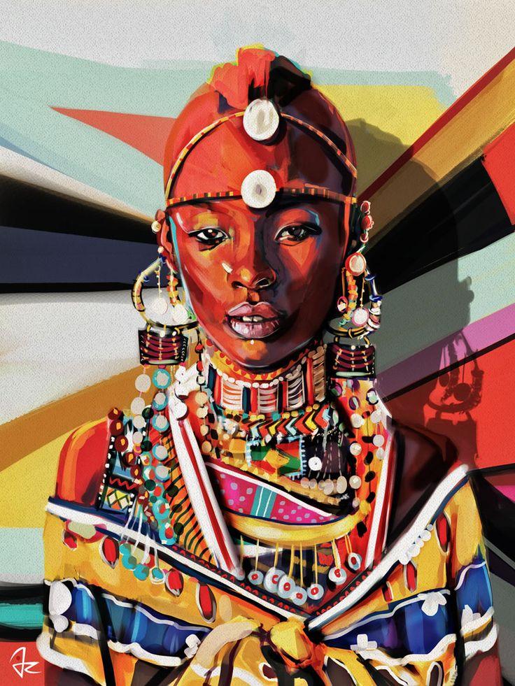 """""""Kenya"""" digital painting by Giulio Rossi"""